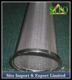 Filtro perfurado do cilindro do engranzamento do aço inoxidável