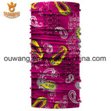 O logotipo feito sob encomenda ostenta o Bandana Multifunctional respirável do lenço principal