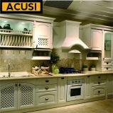 Het nieuwe Meubilair van de Keuken van de Keukenkast van de Stijl van de Premie In het groot Lineaire Stevige Houten (ACS2-W23)