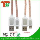 Samsungのための新しい革USBデータ充満ケーブル