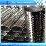 Cylindre perforé de filtre de treillis métallique d'acier inoxydable