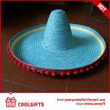 Шлем сторновки Sombrero горячего сбывания Striped для выдвиженческого подарка
