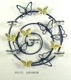 Supporto di candela rotondo della farfalla del ferro con le tazze