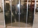 Cuarto de baño de la esquina correderas de cristal Blanco Negro línea cuadro de ducha 90