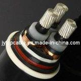 Alta tensão 18/30 (33) de cabos distribuidores de corrente isolados XLPE de alumínio do condutor do quilovolt