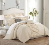4PCS 100%年のCotton Luxury Dyeing Duvet Cover Set