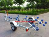 Único reboque do barco com rolos curvados Tr0229