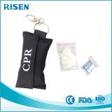 Fördernde CPR-atmenwegwerfgesichtsmaske mit Handschuhen