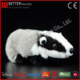 Brinquedo macio enchido do texugo europeu dos animais do luxuoso do texugo euro-asiático