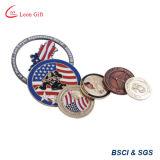 Moneta antica su ordinazione di sfida di marchio della fabbrica del ODM dell'OEM con la casella