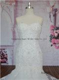 Vollständige Spitze-Hochzeits-Kleider der Stück-Spitze-2016 späteste