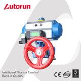 Azionatore pneumatico della valvola con l'elettrovalvola a solenoide ed il volante