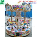 판매 (BJ carousel01)를 위한 매력적인 디자인 위락 공원 6 시트 회전 목마
