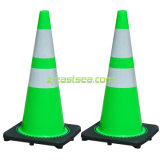 オレンジまたはYellow/Lime Green Flexible PVC Traffic Safety Cone
