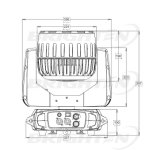 Kundenspezifische 7*40W LED bewegliche Hauptwäsche-Stadiums-Beleuchtung mit lautem Summen