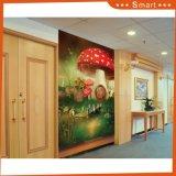 おとぎ話の背景の子供部屋の装飾のための赤いきのこの油絵