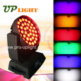 Colada del zoom 36*18W LED Movinghead de RGBWA+UV 6in1