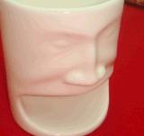 Tazza di caffè su ordinazione di ceramica della tazza di tè della novità con il supporto del biscotto