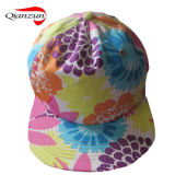 Do painel floral do chapéu 5 do camionista da forma chapéus lisos do Snapback da borda