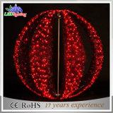 Indicatore luminoso variopinto di natale di Mortif della sfera del giardino di festa staccabile esterna della decorazione