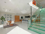 Scala di vetro diritta dell'acciaio inossidabile di alta qualità DIY fatta in Cina Foshan/scala delle scala