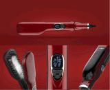 Peigne rapide rouge plat de redresseur de cheveu de chaufferette du fer 45 W
