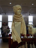 Шлем Knit кабеля зимы женщин теплый
