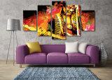 HD 5PCS imprimió la lona Mc-084 del cuadro del cartel de la impresión de la decoración del taller de impresión del guitarrista de la música de Jimi Hendrix