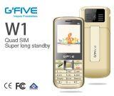 Qualité de téléphone de barre de Gfive W1 avec 4 carte SIM et grande batterie procurables pour la BRI de la CE d'expédition de SKD diplôméee