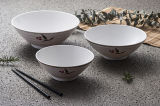 """Vajilla 100% de /Japanese del tazón de fuente de Ramen de la """"serie natural"""" del servicio de mesa de la melamina (NC566)"""
