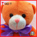 O luxuoso de seda do urso da peluche de Brown do urso da peluche encheu o urso da peluche
