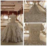 Nouvelle robe de mariage d'Applique d'organza de conception (WDQH004)