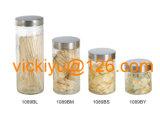 vaso di vetro di memoria dell'alimento 500ml~2L con la protezione del metallo