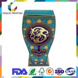 OEM Luxury Irregular Shape Paper Box with Gold UV Printing Finish