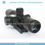 Mini 2.5-10X40 Tactical Compact Rifle Scope avec vue laser rouge