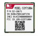 Qualcomm 칩셋 Mdm9215를 사용하는 4G Lte 모듈 SIM7100A 지원 B2/B4/B5/B17 UMTS/HSDPA/HSPA+ B2/B5