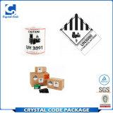 Escrituras de la etiqueta respetuosas del medio ambiente de las etiquetas engomadas de la seguridad de la batería de Mading de la fábrica