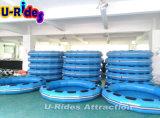 Раздувной голубой круглый сплоток для парка атракционов