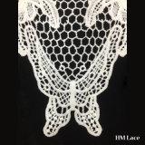 шнурок утески венчания способа 35*33cm с бабочкой связанной способом и подгонянным цветком деталем Hml8616 тканья ткани уравновешивания шеи