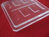 Glace personnalisée de quartz transparent avec la cannelure