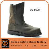 Тяжелая промышленная кислотоупорная безопасность Goodyear Welted кожаный Boots Sc-6608
