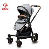 De Wandelwagen van de baby met Frame en Regelmatige Regelmatige Carrycot van de Zetel en