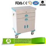 Chariot à acier inoxydable médical pour l'anesthésique (CE/FDA/ISO)
