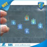 투명한 Hologram Overlay, PVC Cards를 위한 Holographic Overlay