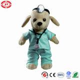 Docteur Dog Plush Animal Soft bourré badine le jouet
