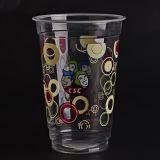 アイスコーヒー、パーティー用品、冷たい飲み物用の半透明のプラスチックカップ