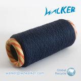 filo di cotone riciclato nero bianco grezzo 6s (nanometro 10s) per il filato per maglieria del guanto