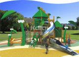 Patio al aire libre del compacto de madera de la choza de los niños de Kaiqi (KQ60084A)