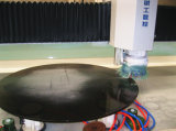 10mm Round Black Toughened Glass como Table Top