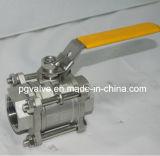 Le robinet à tournant sphérique femelle de la qualité 1000wog 3PC de TNP avec la haute Plat